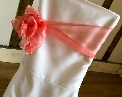 Chair cover side bow