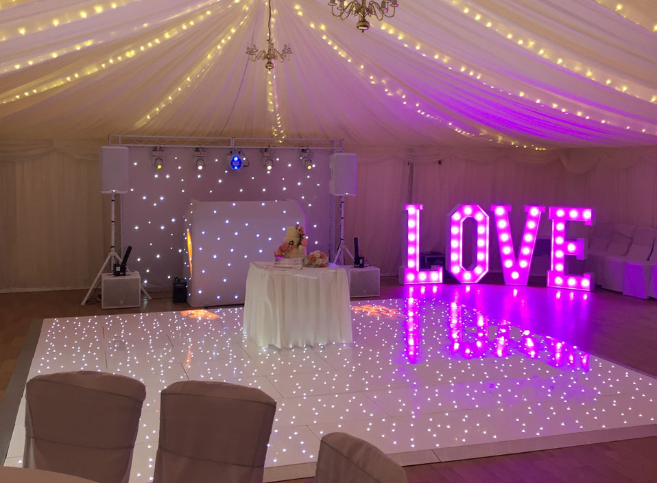 LED dancefloor hire in Essex