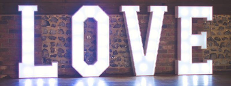LED LOVE Letter Hire Essex